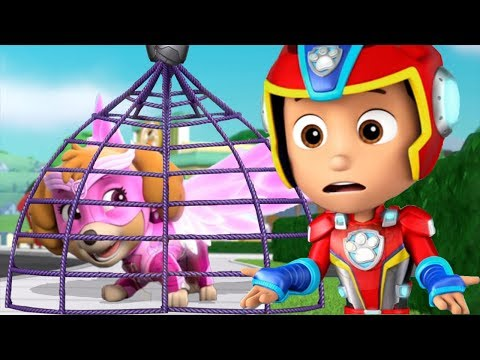 PAW Patrol Mighty Pups - Mighty Paw Skye Rescue Team Training Day - Nickelodeon Kids Games Video  