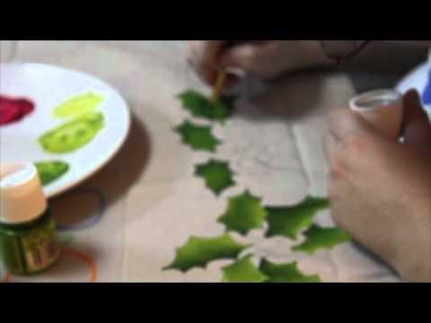 Hand Painted Tablecloth By Neyruz Abu Jamra