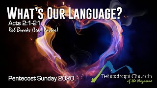 What's Our Language? 05/31/2020