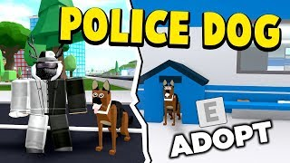'NEW UPDATE' ADOPT A POLICE DOG! TREATS (ROBLOX MAD CITY)