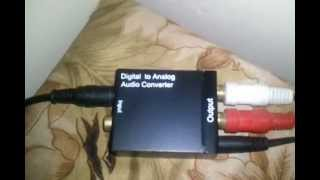 optical to rca or analog audio converter