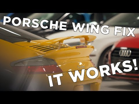 How to Fix Porsche Rear Spoiler (996 & 997)