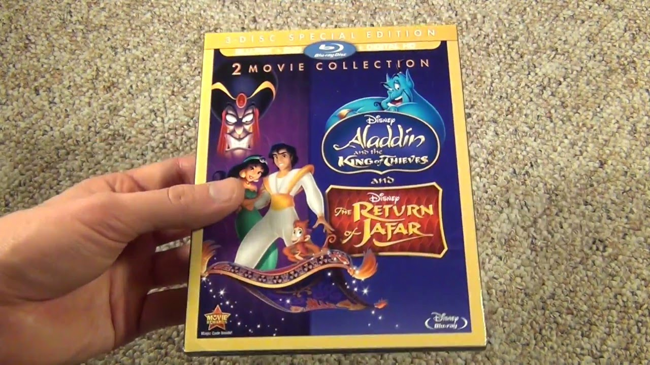 Download Aladdin and the King of Thieves / The Return of Jafar 2 Movie Collection Blu-Ray Unboxing
