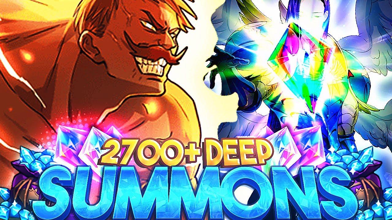 OVER 2700+ GEMS DEEP! 6/6 ARCHANGEL SUMMONS!  | Seven Deadly Sins: Grand Cross