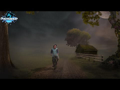 Photoshop Manipulation Tutorial - Human Interest - A Farmer Going To House By Cycle