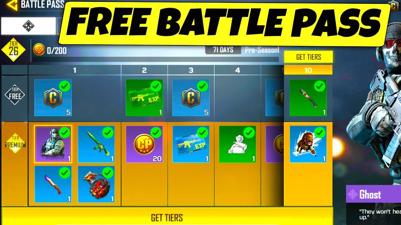 How To UNLOCK a FREE BATTLE PASS in CALL OF DUTY MOBILE.. -