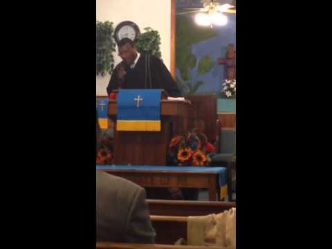Apostle Charles E. Marsh Jr. Preaching at Sandhill Missionary Baptist Church Abbottsburg NC