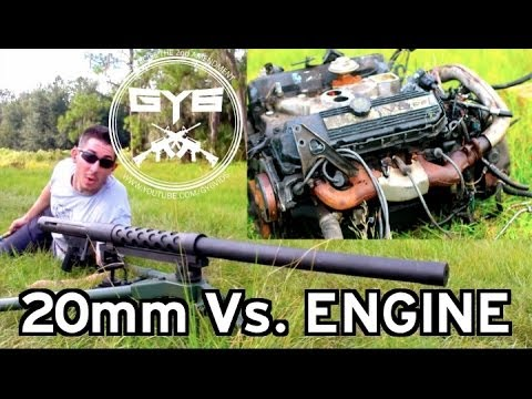 cannon 20mm vs engine youtube