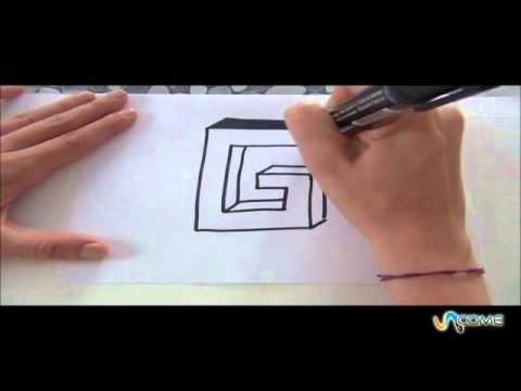 Come disegnare la lettera G in 3D