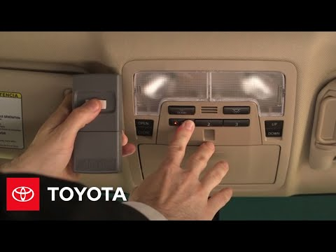 Camry How To Homelink 174 2014 5 Camry Toyota Youtube