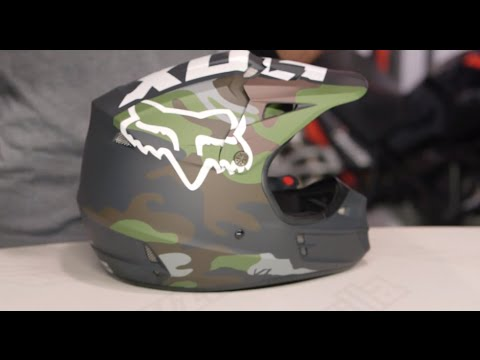 Fox Racing V1 Camo Helmet Review at RevZilla.com