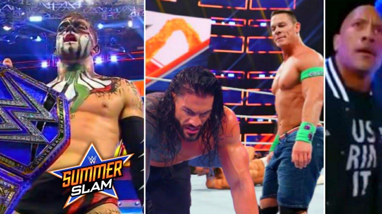 John Cena Helps Finn Balor To Win Universal Championship !? Roman Member, Rock.. WWE SummerSlam 2021