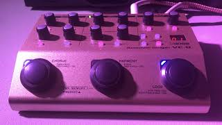 Quick Demo Of The Boss VE-8 Acoustic Singer Vocal Effects Pedal