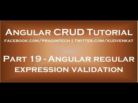 Angular Regular Expression Validation