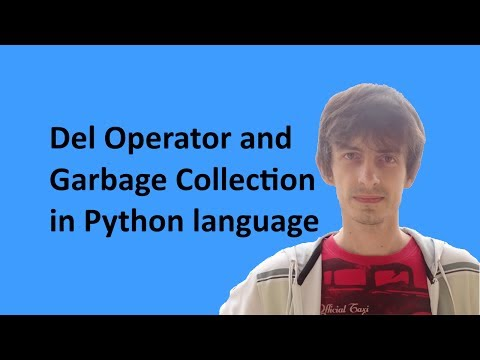 Del Operator and Garbage Collection in Python language