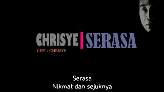 Chrisye - Serasa ( Lirik )