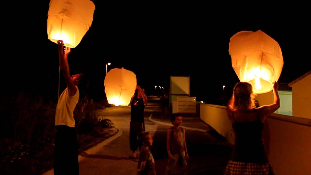 lancer de lanterne souvenir mariage - Lanterne Volante Mariage