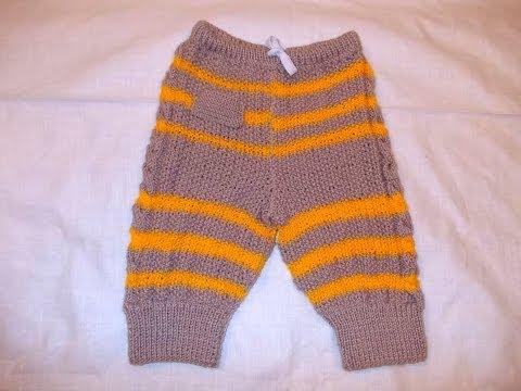 Вязание детских штанов