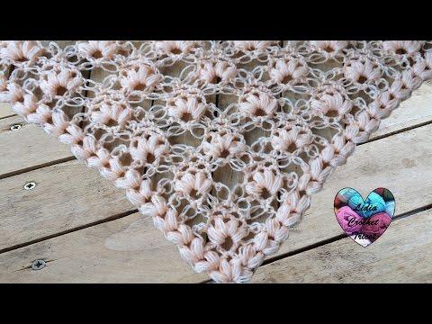 Châle point salomon au crochet / chale a crochet punto salomonde YouTube · Durée:  24 minutes 11 secondes