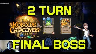 2 TURN FINAL BOSS with PRIEST! Dungeon Run - Hearthstone Kobolds And Catacombs