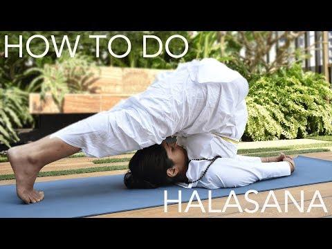 How to do Halasana (The Plow Pose) | SRMD Yoga