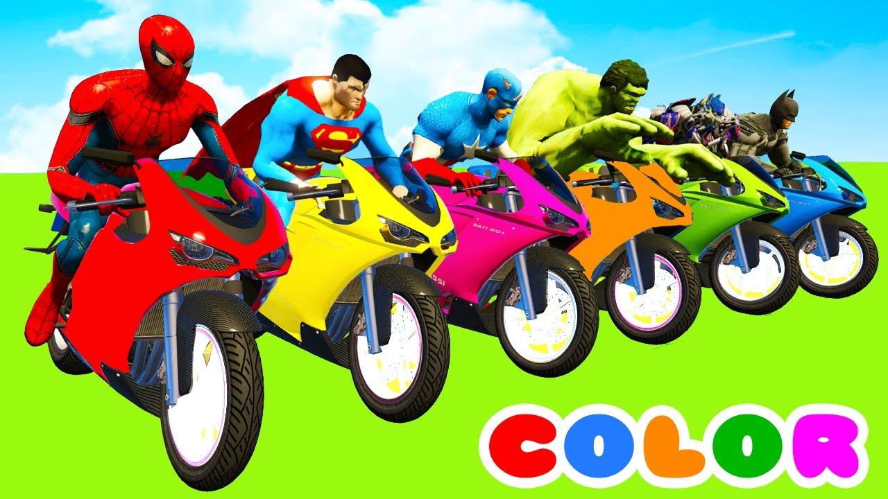 cartoon cars superheroes motorcycles babies