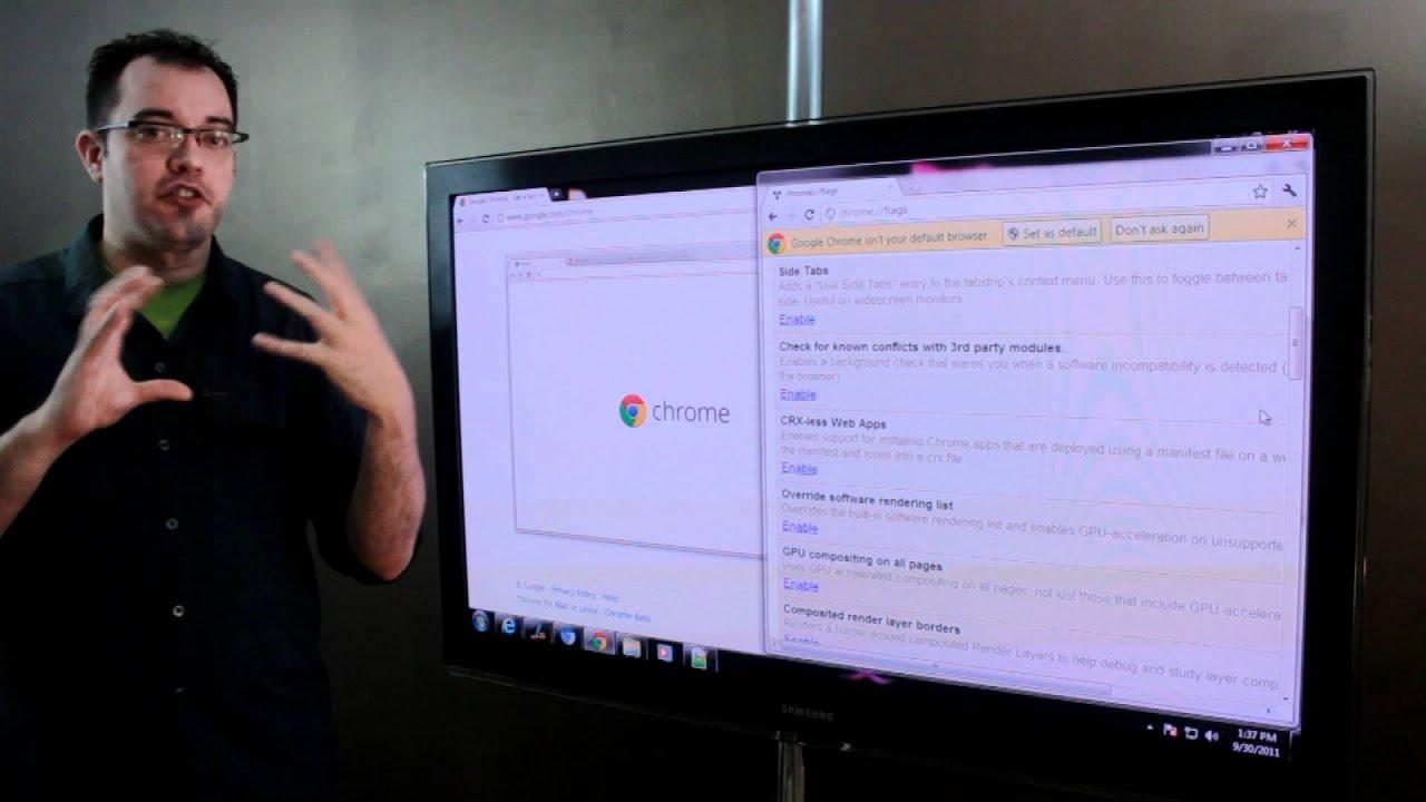 Enabling Hidden Features In Google Chrome: GPU Acceleration