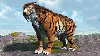 Smilodon - zabójczy kot szablastozębny