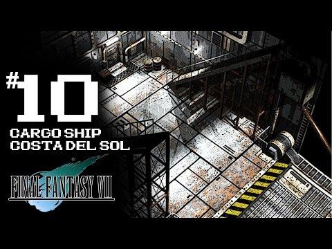 Final Fantasy VII [PS4 Platinum Trophy] Gameplay Walkthrough Part 10 - Cargo Ship