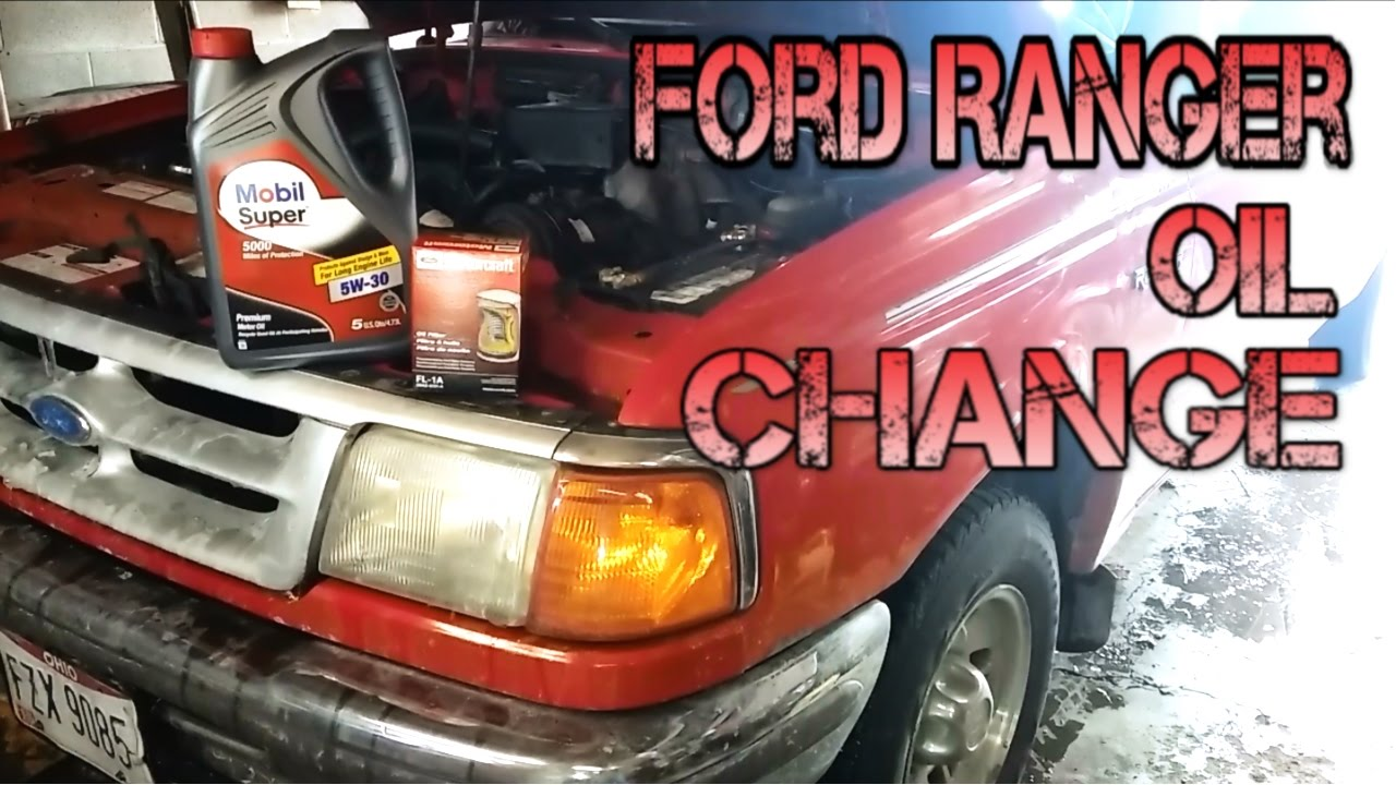 1993 1997 Ford Ranger Oil Filter Change Diy Youtube 7 3 Fuel Location