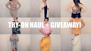 TRY ON FASHION HAUL + GIVEAWAY!♡ BOOHOO
