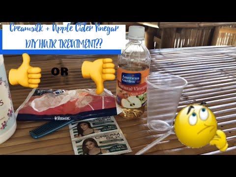 CONSUKA!! |APPLE CIDER VINEGAR + CREAMSILK for hair?? | Tipid hair