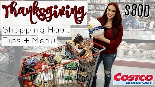 HUGE THANKSGIVING GROCERY SHOPPING TRIP   COSTCO