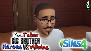 HE PEED HIMSELF | YouTuber Big Brother Heroes .vs. Villains Episode 2 | The Sims 4