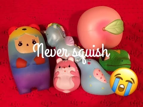 SQUISHYS I NEVER SQUISH :(