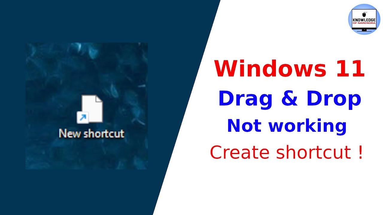 Create shortcut in windows 11.