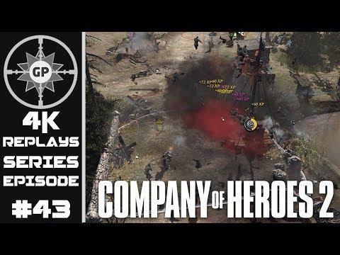 Company of Heroes 2 4K Replays #43 - Machine Gun vs. Machine Gun