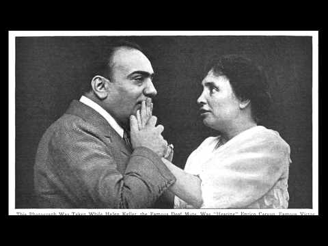 "Helen Keller ""Listens""  to the Singing of Caruso (1916)"