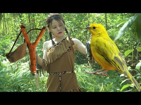 Ana Made A Primitive Gun And Shot 100 Birds - Survival Series