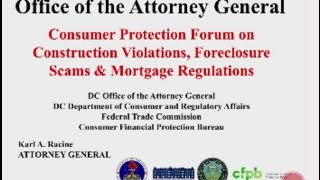 DC OAG Consumer Protection Forum, 6/11/15