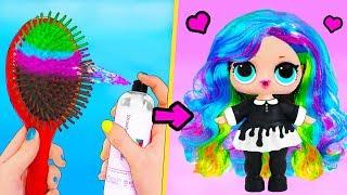 13 ЛАЙФХАКОВ и поделок для Кукол ЛОЛ Сюрприз! LOL Surprise HACKS DIY Custom / Видео
