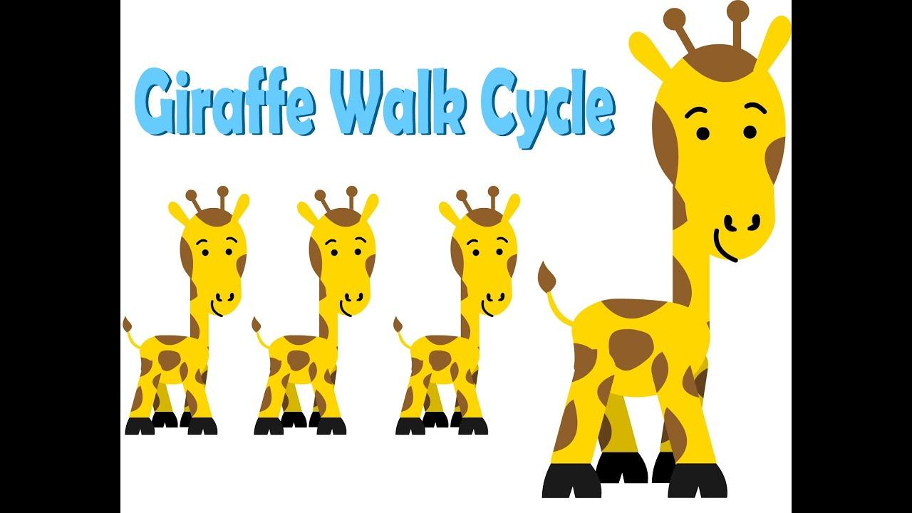 animal walk cycle giraffe adobe flash 2d animation youtube