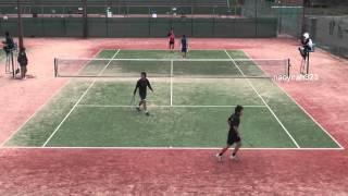 2015年 ソフトテニス 村上・中本 対 チョン・ジンミン パク・チャンソク(韓国)