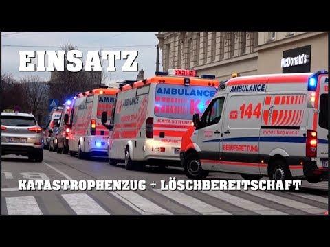 EINSATZ in Wiener U-Bahn-Station | + EINSATZFAHRT Löschbereitschaft Feuerwehr