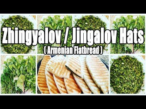 Zhingalov/Jingalov Hats-Armenian Bread Stuffed With Fresh Herbs