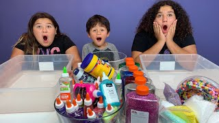 Our Baby Brother Gabe Picks Our Slime Ingredients Challenge