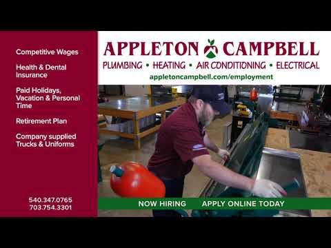 Appleton Campbell Is Recruiting HVAC Technicians