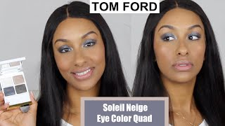 TOM FORD Soleil Neige Eye Color Quad Winter ❄️ 2019 SOLEIL NEIGE Collection | Mo Makeup Mo Beauty