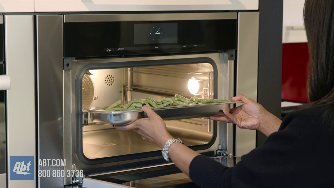 miele combi steam oven demo steaming green beans
