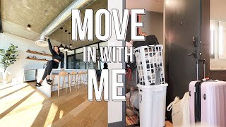 MOVE IN VLOG: Move in with me + Unpacking + decorating my first apartment| moving vlog